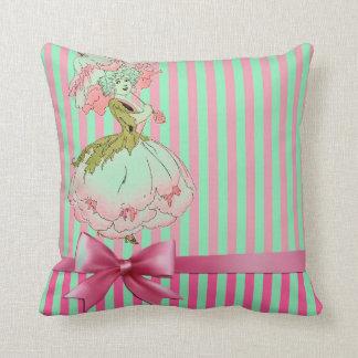 fleur-enfant-pivoine-rose coussin décoratif