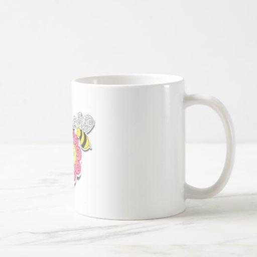 Fleur et abeille mug à café