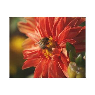 Fleur et abeille toiles tendues