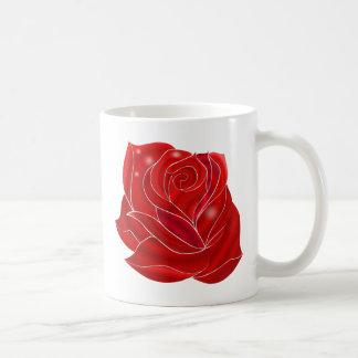 Fleur extraordinairement belle de rose rouge mug blanc