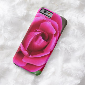Fleur fuchsia vibrante Makro de rose de rose Coque Barely There iPhone 6