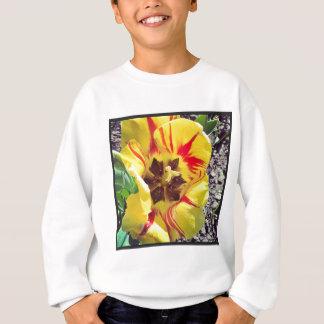Fleur jaune et rouge sweatshirt