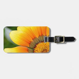 Fleur jaune étiquettes bagages
