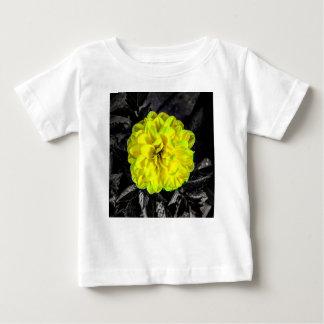 Fleur jaune t-shirt pour bébé
