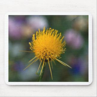 Fleur jaune tapis de souris