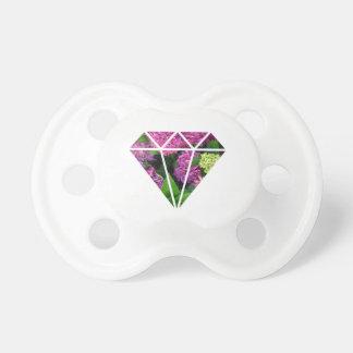 fleur lilas de diamant moderne élégant colorée tétine