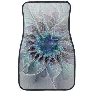Fleur moderne abstraite de fractale de Flourish Tapis De Sol