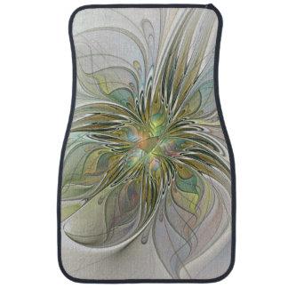Fleur moderne d'art de fractale d'imaginaire tapis de voiture