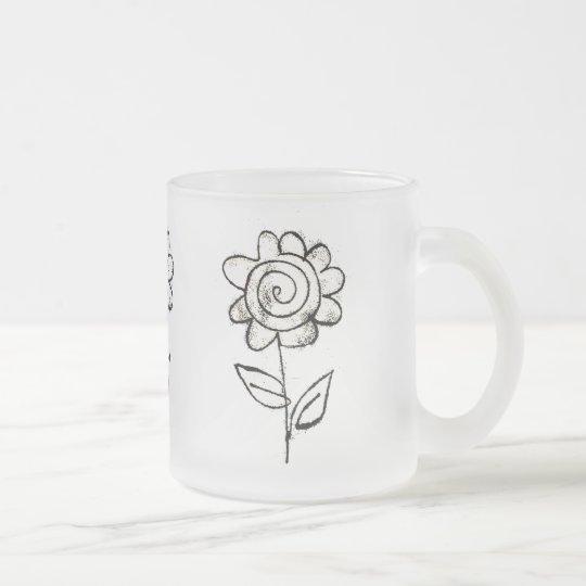 Fleur mono d'impression tasse givré