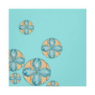 fleurs turquoise impressions sur toile fleurs turquoise impressions sur toile tendue. Black Bedroom Furniture Sets. Home Design Ideas