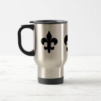 Fleur noir superbe de lis mug de voyage