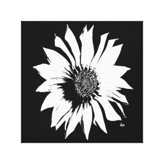 Fleur noire/blanche toiles