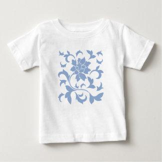 Fleur orientale - bleu de sérénité t-shirt pour bébé