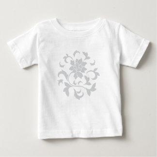 Fleur orientale - motif circulaire argenté t-shirt pour bébé