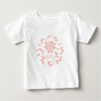 Fleur orientale - motif circulaire de quartz rose t-shirt pour bébé
