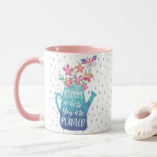 Fleur où vous êtes plantés mug