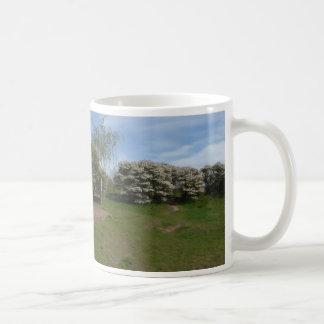 Fleur panoramique de raisin sec avec la tasse de