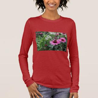 Fleur/papillon T-shirt À Manches Longues