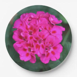 Fleur, plaques à papier assiettes en papier