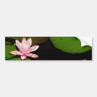 fleur rose-clair de nénuphar de lotus autocollant pour voiture