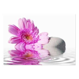 Fleur rose de carte de visite