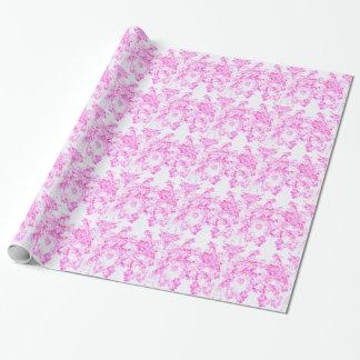 Fleur rose de cornouiller papier cadeau