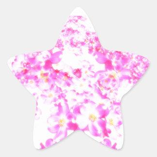 Fleur rose de cornouiller sticker étoile