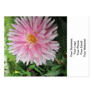 Fleur rose extraordinaire de dahlia carte de visite
