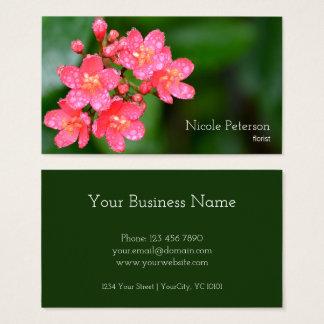 Fleur rose - fleuriste cartes de visite