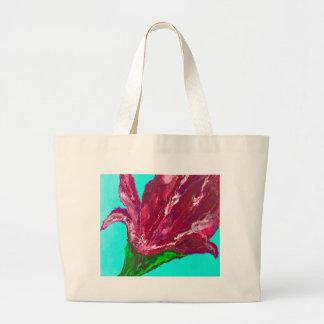 Fleur rose grand sac