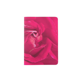 Fleur rose protège-passeport