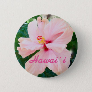 Fleur rose tropicale d'Hawaï Badges