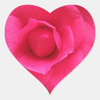 Fleur rouge de cognassier du Japon Rachele Odero Sticker Cœur