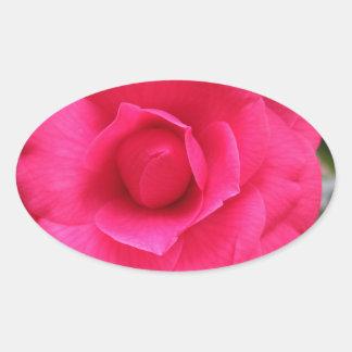 Fleur rouge de cognassier du Japon Rachele Odero Sticker Ovale