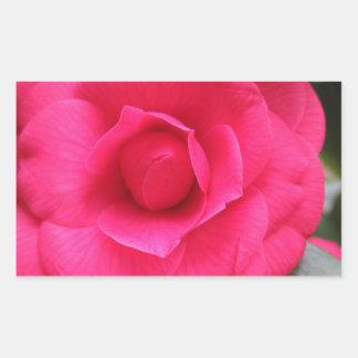 Fleur rouge de cognassier du Japon Rachele Odero Sticker Rectangulaire