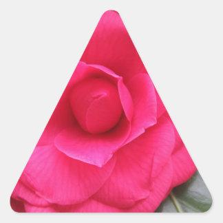Fleur rouge de cognassier du Japon Rachele Odero Sticker Triangulaire