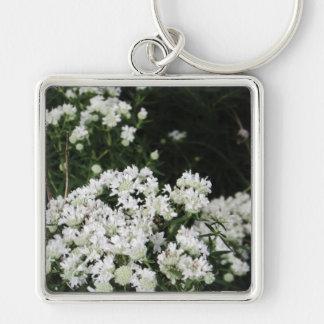 Fleur sauvage assez blanc porte-clés