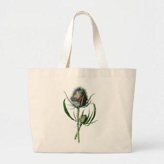 Fleur sauvage d'antiquité de chardon d'écossais du grand sac