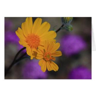 Fleur sauvage jaune carte de vœux