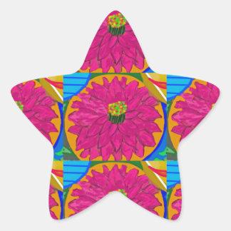 fleur UNIQUE d'artistique de fleur par NavinJOSHI Sticker Étoile