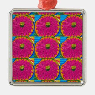 fleur UNIQUE d'artistique de fleur par NavinJOSHI Ornement Carré Argenté