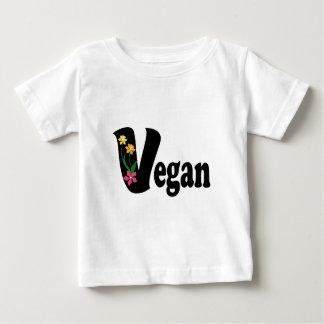 Fleur végétalienne t-shirt pour bébé