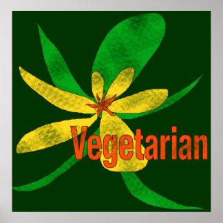 Fleur végétarienne affiches
