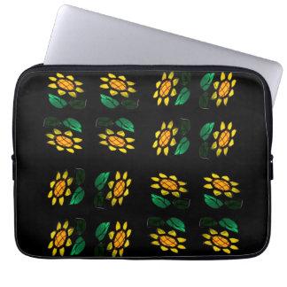 Fleur - verre souillé - sac de l'électronique housses ordinateur portable