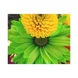 Fleur Verte Toiles Tendues Sur Châssis