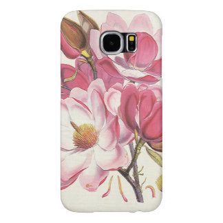 Fleur vintage d'arbre de magnolia, fleurs roses de