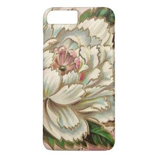 Fleur vintage de pivoine coque iPhone 7 plus