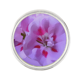 Fleur violette de ketmie d'abrégé sur rose pin's
