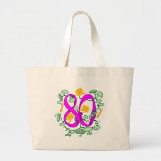 Fleurissez les quatre-vingtième cadeaux grand sac
