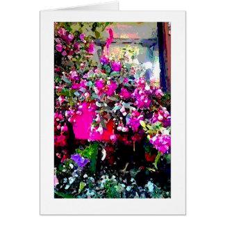 Fleuriste dans la carte de note d'impression d'art